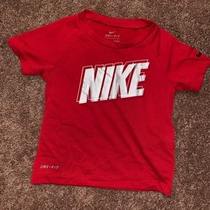 Red Nike Dri Fit Tee